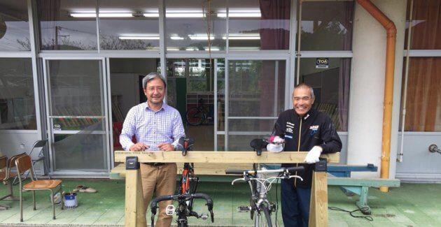 南房総サイクルツーリズムの事務局長瀬戸川さんと、会長高橋松吉さんのツーショット